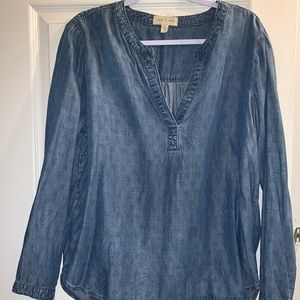 Anthropologie/Cloth & Stone Denim top